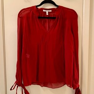 Gorgeous red silk blouse